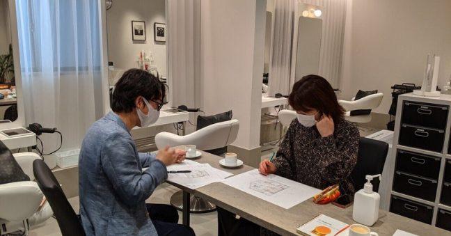 デザイナーさんとの打ち合わせ 6月にオールインクルーシブサロンAttinaが横浜元町にやって来ます!